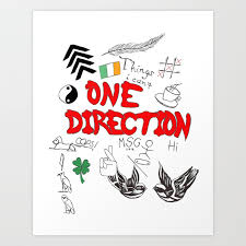 one direction tattoos art print by xanoukgeelen society6