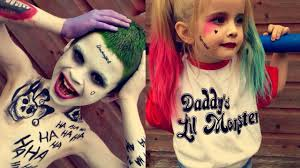 kids version squad joker u0026 harley quinn makeup youtube