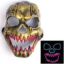 carnival masks luminous scary clown mask led mask flames