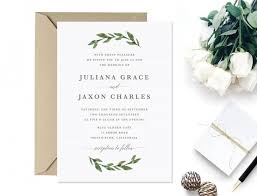 wedding invitations greenery invitation printable greenery wedding invitation 2622411 weddbook