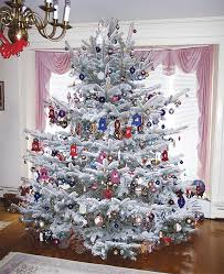my used to always get a real tree flocked with snow