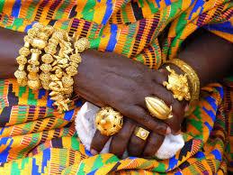 local fashion gold jewelry of the asante