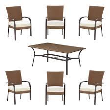 7 Piece Wicker Patio Dining Set - hampton bay corranade custom 7 piece wicker outdoor dining set