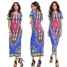 creazy women fashion maxi dress traditional african print