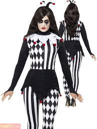 Halloween Costumes Jester Ladies Jester Halloween Costume Adults Harlequin Clown Fancy Dress