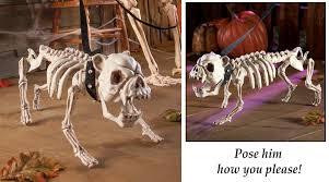 posable skeleton posable skeleton dog decoration white