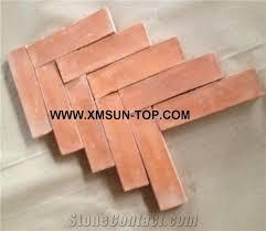 handmade terracotta orange tiles ceramic tile antique tile