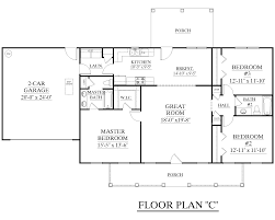 open floor house plans one story house plan 1500 c the c attractive one story ranch split