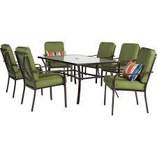 mainstays crossman 7 piece patio dining set green seats 6