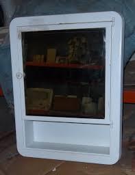 Vintage Antique Home Decor Antique Vintage Medicine Cabinet Metal With Mirror Door 1950 S