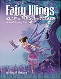 fairy wings pretty colouring book nikknakk