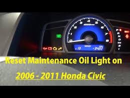 2010 honda civic maintenance minder how to reset maintenance light on 2006 2007 2008 2009 2010
