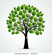 tree symbol abstract green tree symbol vector illustration stock vector
