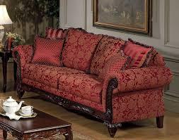 Red Loveseat Fabric Traditional Sofa U0026 Loveseat Set W Optional Chaise
