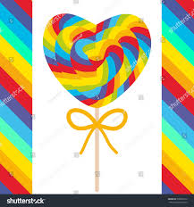 s day heart candy valentines day heart shaped candy lollipops stock vector 338960120