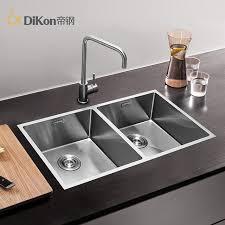 undermount double kitchen sink dikon sc03 kitchen sink deluxe 304 stainless steel above counter