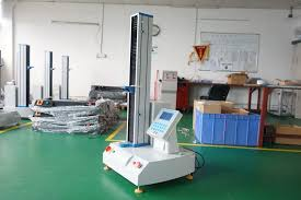 single column universal tensile strength testing machine hd 609 s metal rubber and plastics footwear leather clothing textiles insulators wires cables terminals and other types of materials testing tensile