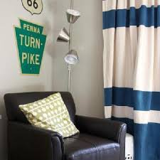 Stripe Curtain Panels Navy And White Striped Curtain Panels Curtain Gallery Images