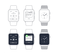 apple watch wireframe craftwork carefully crafted ui assets for