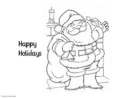happy holidays coloring pages coloring home