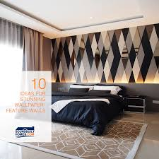 10 outstanding wallpaper feature walls offer home decorating