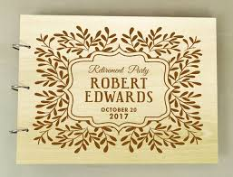 engraved guest book personalized wooden engraved sign in book custom scrapbook