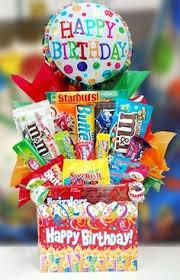 birthday gift baskets birthday bash candy basket