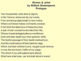 the tragedy of romeo and juliet written by william shakespeare