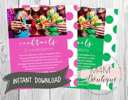instant download u2022 lady cocktails invite u2022 invitations digital