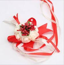 Curtain Band Aliexpress Com Buy Cheap Wrist Flower Rose Silk Ribbon Bride