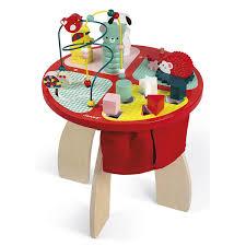 table d eveil avec siege table d activités baby forest en bois janod king jouet