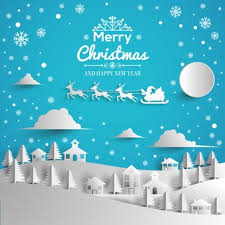 merry and happy new year card vector free