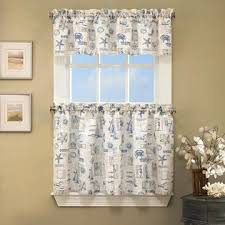 36 Kitchen Curtains by Lhf By The Sea Printed Ocean Beach Images Kitchen Curtains 36 X 60
