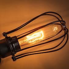 Edison Ceiling Light 5 Light Wrought Iron Industrial Ceiling Lights
