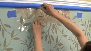 how to stencil an accent wall with kathy peterson u0027s vines stencil