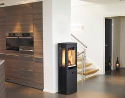 wood heating stove contemporary 3 sided metal duo 4 nordpeis