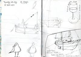 sailing and sketching in scilly claudia myatt