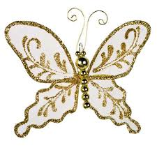gold glitter butterfly 10cm x 7cm decorations for wedding