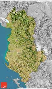 3d Maps Satellite 3d Map Of Albania Lighten Desaturated Land Only
