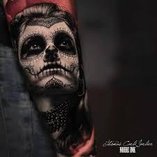 realistic santa muerte tattoo best tattoo ideas gallery