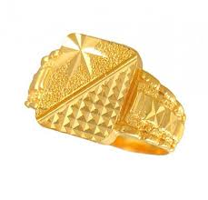 men gold ring design men s gold ring ajri50719 gold men s ring with diamond cuts