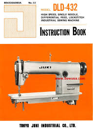 juki dld 432 instruction manual
