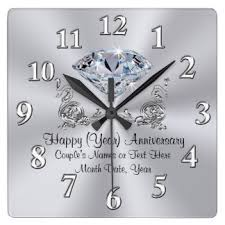 anniversary clock gifts 60th wedding anniversary ideas gifts on zazzle