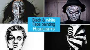 cool face painting for halloween black and white face painting illusion magazine youtube