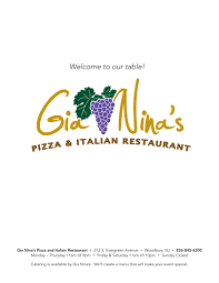 menu gia nina u0027s pizza u0026 italian restaurant