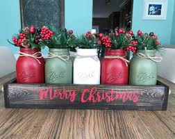 Rustic Christmas Centerpieces - rustic christmas decor rustic christmas centerpiece mason