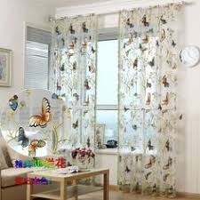 Butterfly Kitchen Curtains Bathroom Sets With Shower Curtain And Rugs Butterfly Butterfly