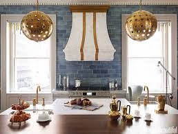 kitchen backsplash colors kitchen backsplash inspired with blue gray colors and wood island