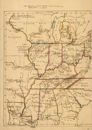 Map Of Central Illinois by Untitled Manuscript Map Of Part Of Us Including Missouri
