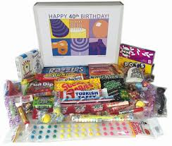 Birthday Gift Baskets For Men Amazon Com 40th Birthday Gift Box Of Retro Nostalgic Candy For